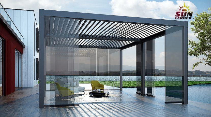 Cum sa ai parte de o terasa de vis iarna. Pergola bioclimatica Sun Leader