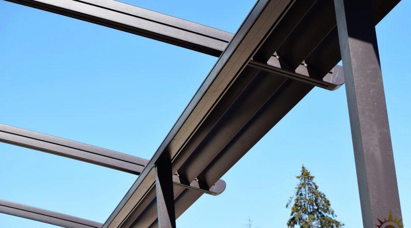 Pergola retractabila Structura de aluminiu.Pergola aluminiu. Pergola impermeabila. Mai mult decat o copertina retractabila