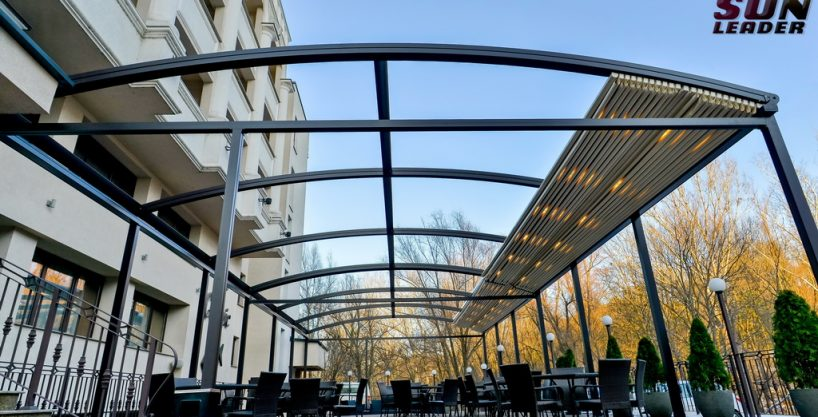 Pergola retractabila Vault. Modele de pergole retractabile Sun Leader